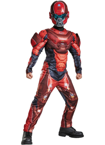 Red Spartan Halo Costume For Children