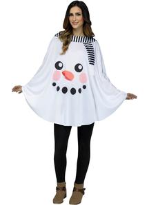 Snowman Poncho Adult