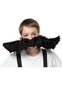 Super Mustache Black 20 inches