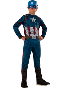 Superhero Captain America Child Costume