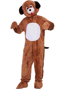 Brown Puppy Mascot Adult Costume