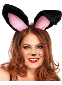 Bunny Ears Plush Black