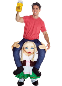 German Beer Wench Piggyback Adult
