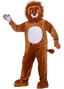 Lion Mascot Adult Costume