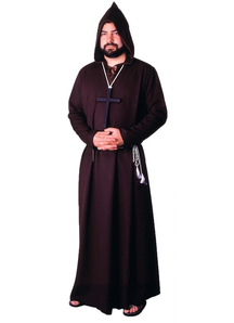 Monk Robe Brown Adult