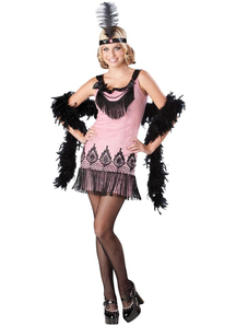 Pink Flapper Teen Costume