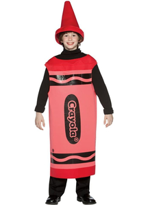Red Crayola Pencil Teen Costume
