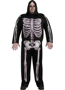 Skeleton 3 D Plus Size Adult Costume