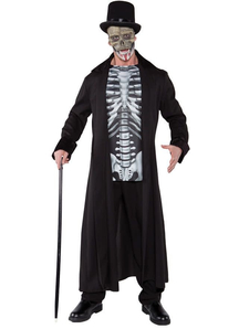 Skull Man Halloween Adult Costume
