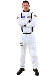 White Astonaut Adult Costume