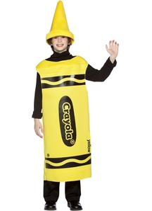 Yellow Crayola Pencil Teen Costume