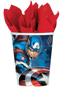 Avengers Cups 9Oz 8 Pack