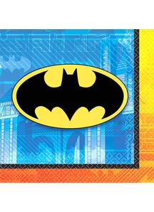 Batman Bev Napkins 16 Pack