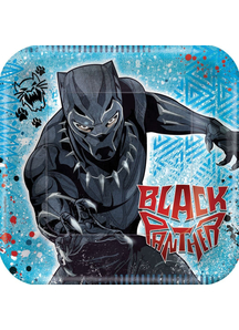 Black Panther Plate 7In 8 Ct