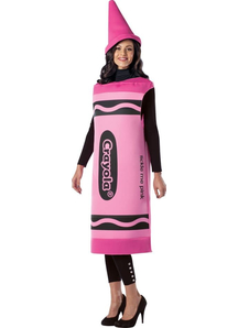 Crayola Pink Pencil Adult Costume
