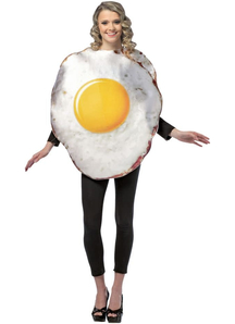 Fried Egg Adult Costume
