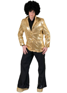 Gold Disco Jacket Adult Costume
