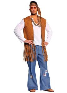 Hippie Man Adult Costume Plus