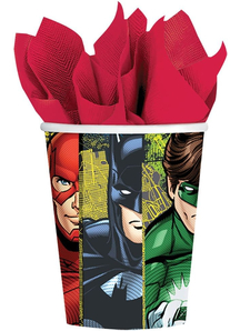 Justice League 9 Oz Cup 8 Pack