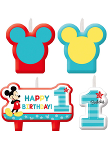 Mickey 1St Bday Candle Set 4Pk