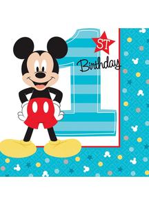 Mickey 1St Bev Napkins
