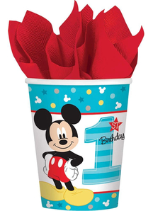Mickey 1St Cups 9Oz 8 Pack