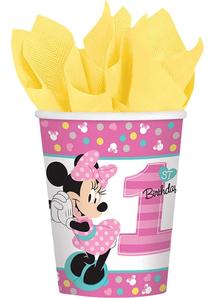 Minnie 1St Cups 9Oz 8 Pack