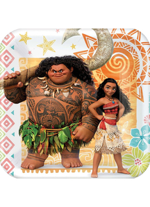 Moana Sq Plates 7In 8 Pack