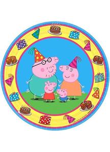 Peppa Pig Rnd Plates 7In