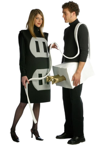 Plug And Socket Couple Plus Size Costume