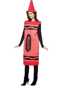 Red Crayola Pencil Adult Costume