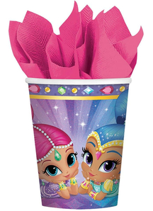 Shimmer Shine Cups 9Oz 8 Pack