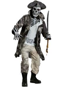 Skeleton Pirate Adult Costume