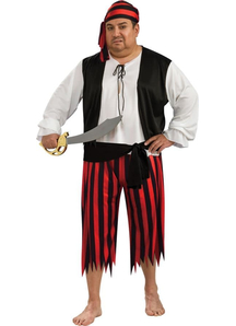 Striped Pirate Adult Costume