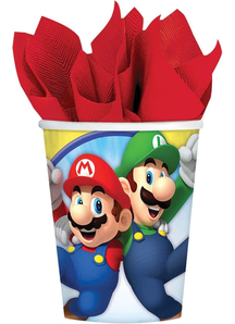 Super Mario Cups 9Oz 8 Pack