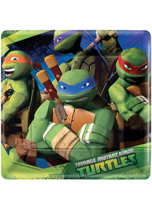 Tmnt Sq Plates 7In 8 Pack