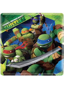 Tmnt Square Plate 9In 8 Pack