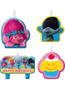 Trolls Birthday Candle Set 4Pk