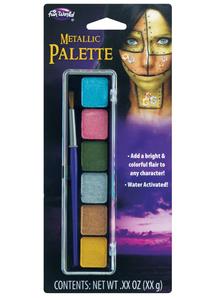 6 color Metallic Make up Palette