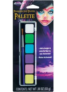 6 color Pearlescent Make up Palette