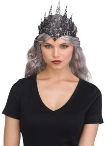 Black Glitter Crown