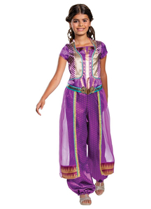 Girls Jasmine Costume purple - Aladdin