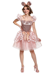 Gold Minnie Mouse Adult Costume