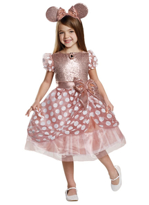 Gold Minnie Mouse Child Costume
