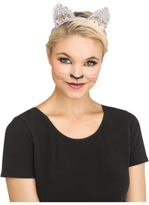 Grey Jeweled Cat Ear
