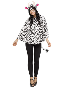 Hooded Poncho Cow