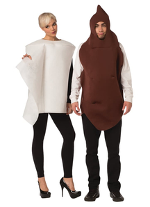 Poop and Toilet Paper Adult Costumes