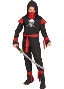 Skull Black Ninja Child Costume