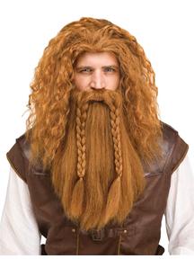 Viking Wig & Beard Auburn