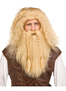 Viking Wig & Beard Blonde